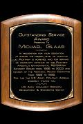 Michael receives Outstanding Service Award from the U.S. Army Armament Research, Development & Engineering Center