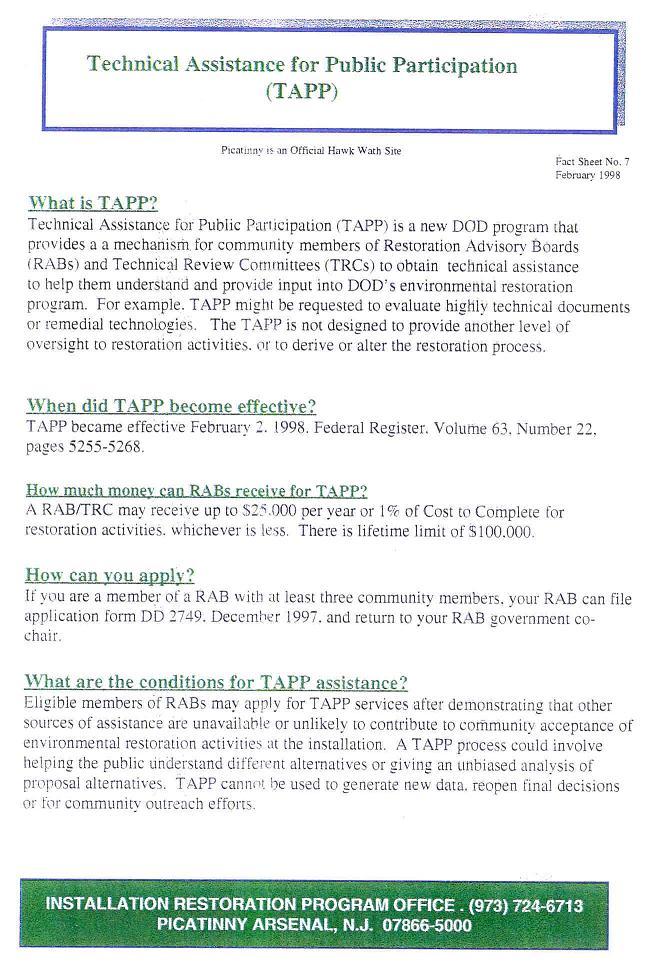 TAPP Description page for PAERAB